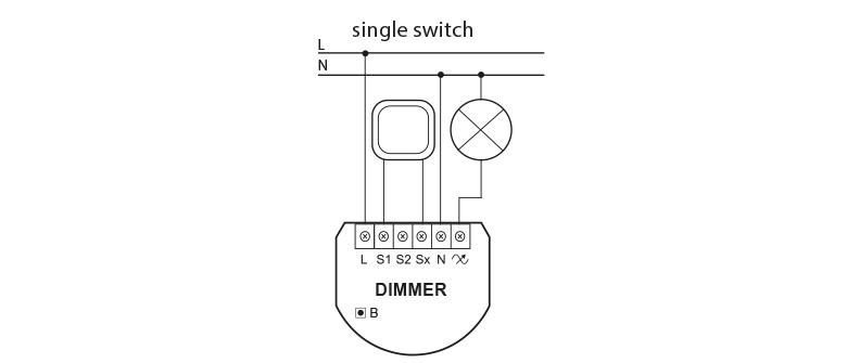 Схема подключения диммера с трехпроводной системой