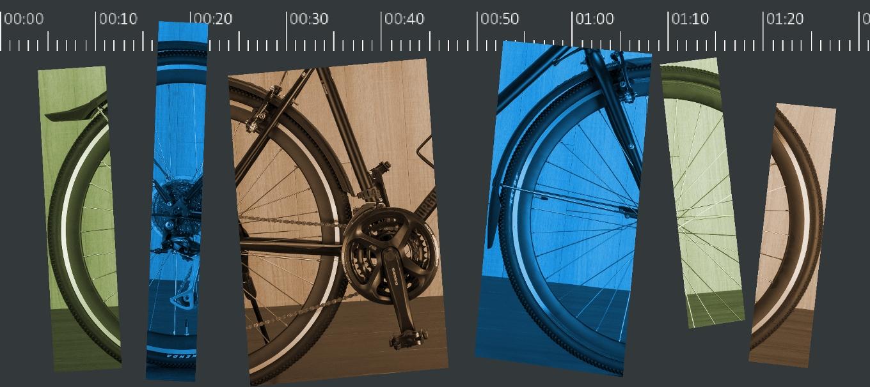 Велосипед на таймлайне
