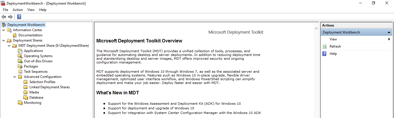 Installing Windows through Windows Deployment Services and Microsoft