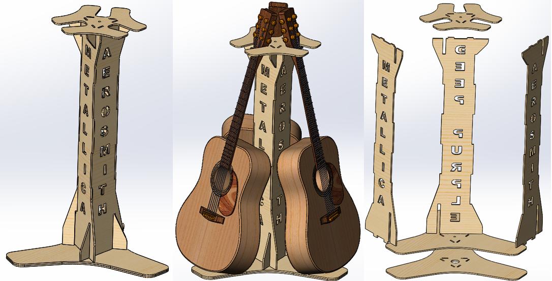 Стойка для трех гитар своими руками