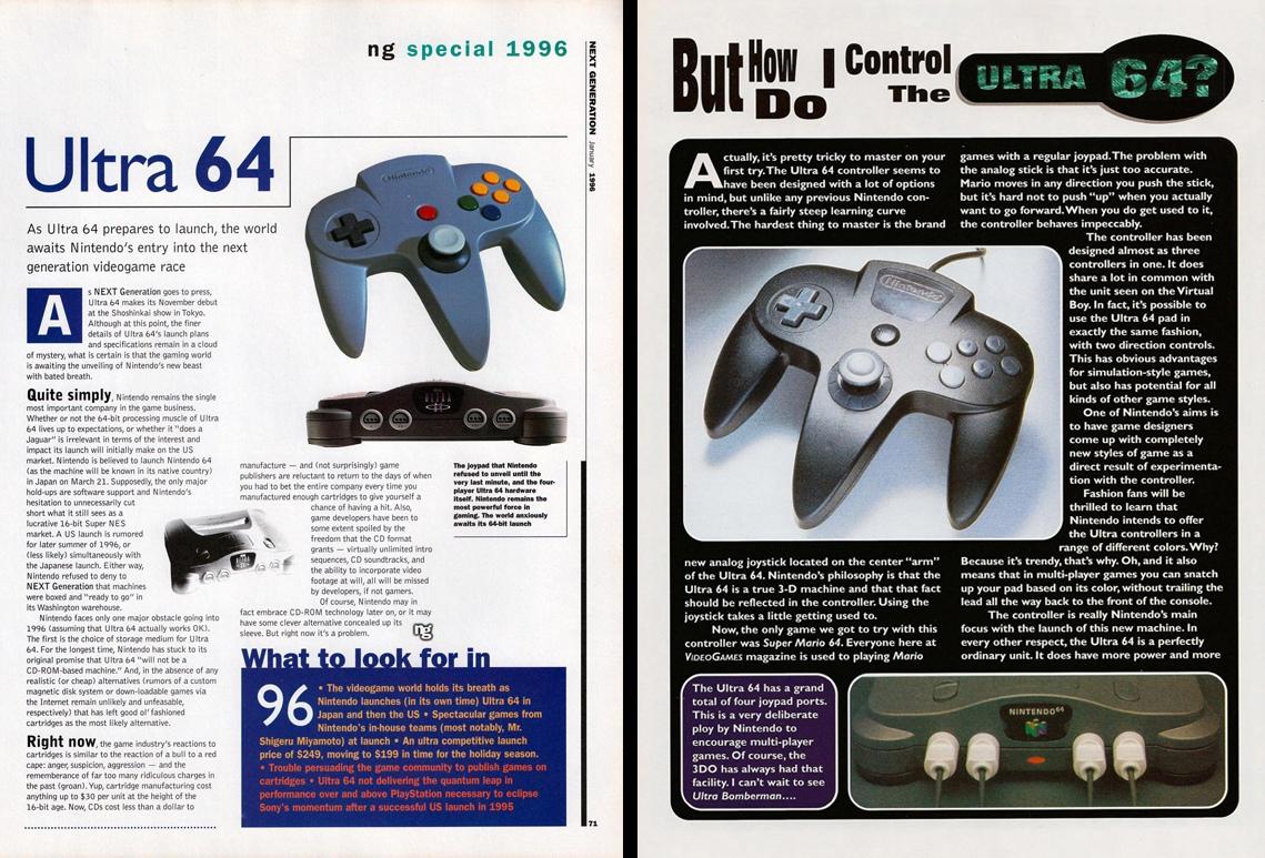 oшло до того, что геймпад от N64 начал соседствовать с Ultra 64 и наоборот — геймпад от U64 c консолью Nintendo 64