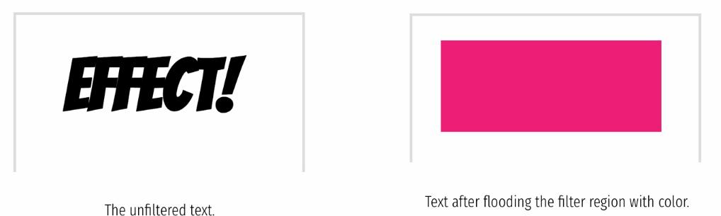 До и после заливки цветом текстовой области фильтра