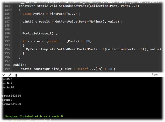 Работа со списком Pinов, на С++ для микроконтроллеров (на примере CortexM)