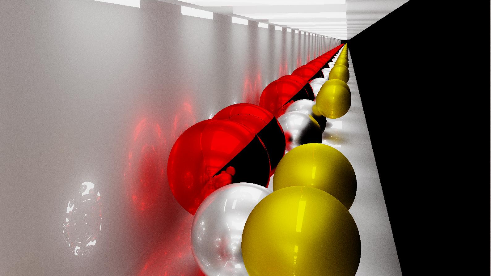 эффект бесконечного туннеля от двух параллельных зеркал