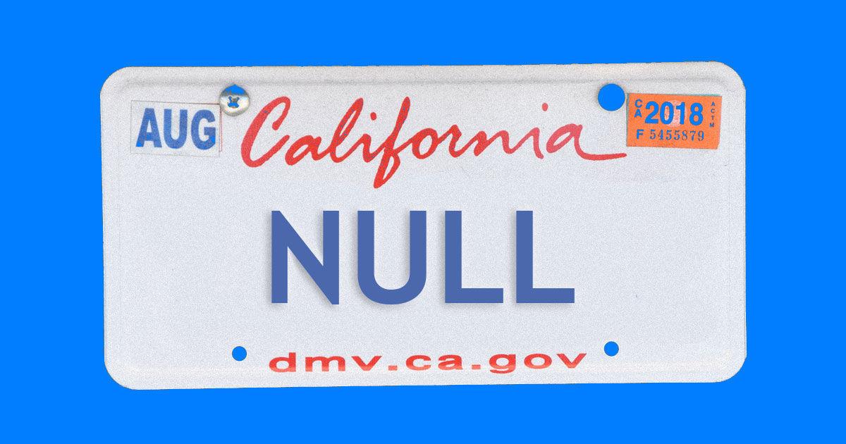 Не шутите с NULL