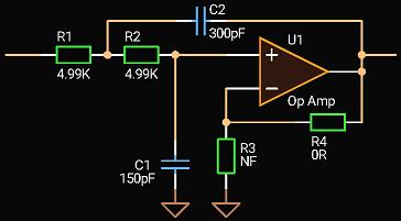 'Circuit Calculator', 2-nd order Sallen-Key LPF