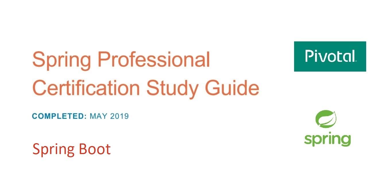[Перевод] Подготовка к Spring Professional Certification. Spring Boot