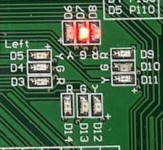 Figure 3: LEDs arrangement.
