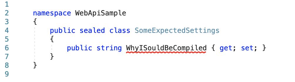 Как готовить nullable reference types с добавлением appsettings.json