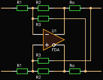 'Circuit Calculator', Fully Differential Active Termination Driver