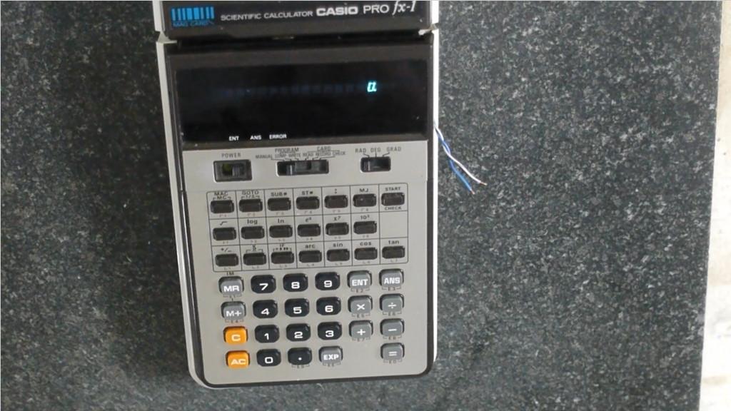 [Перевод] Самодельные магнитные карты для калькулятора Casio PRO fx-1