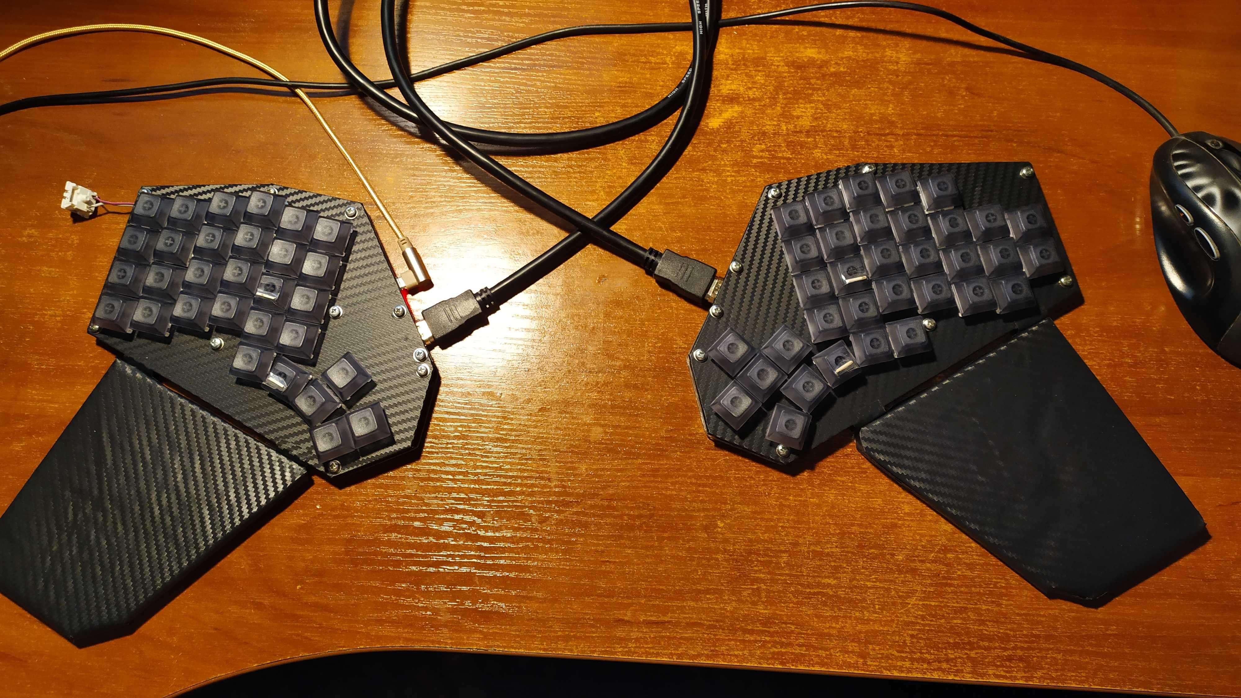 Подробная инструкция по изготовлению сплит клавиатуры на основе ATmega32U4. Аналог Iris  Jiran своими руками