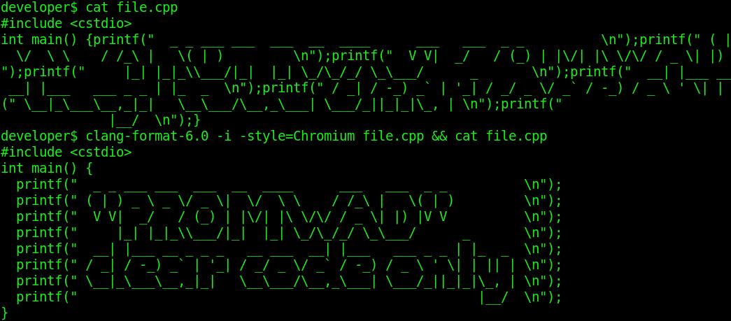 Форматирование исходного кода в Linux средствами ClangFormat: проблемы и решение