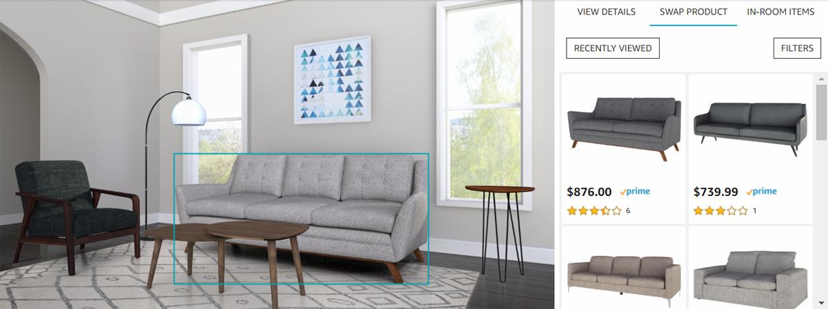 Amazon представила Showroom, или почему мы скоро будем покупать всю мебель онлайн