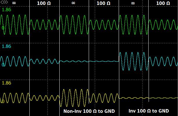 Behringer, output driver, simulation