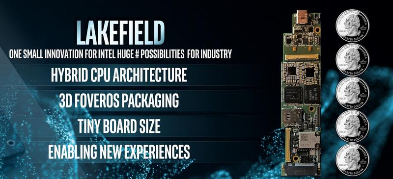 Intel Lakefield: гибридный процессор с трехмерной компоновкой
