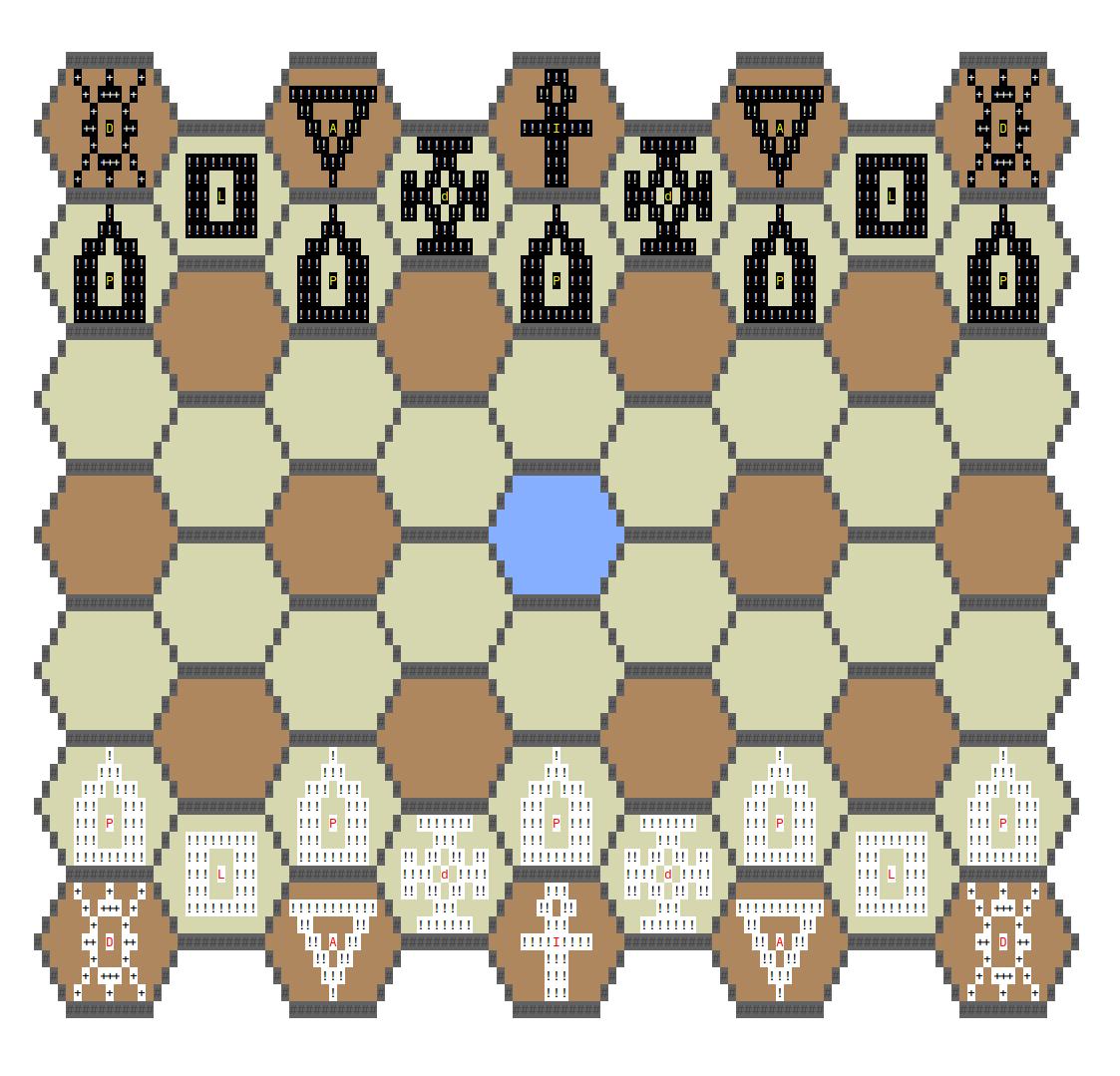 4 угла хорошо, а 6 лучше гексагональные шахматы в консоли и с ботом