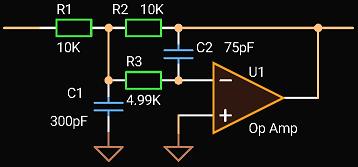 'Circuit Calculator', 2-nd order MFB LPF