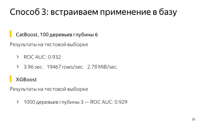 Применение моделей CatBoost внутри ClickHouse. Лекция Яндекса