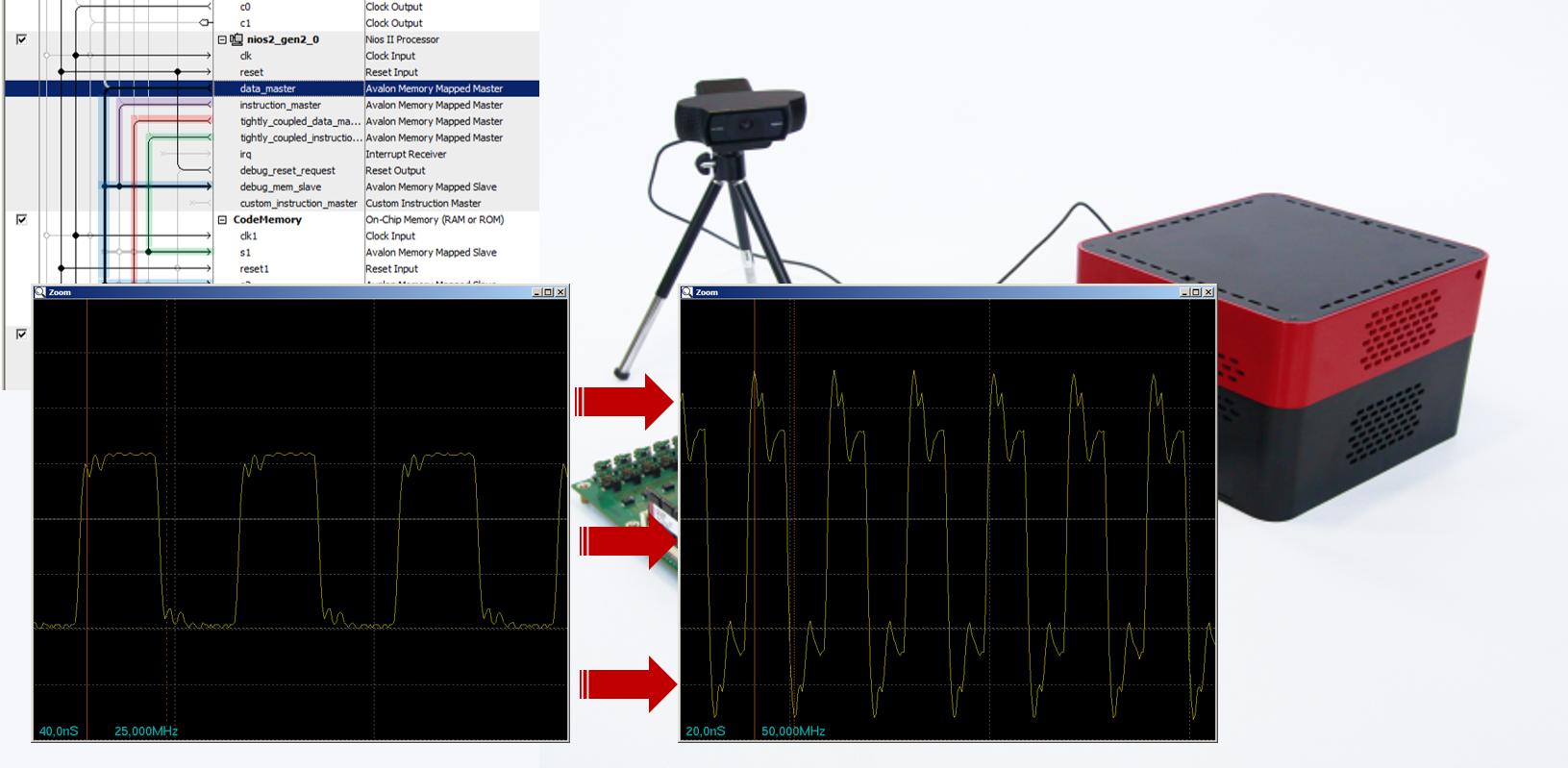 Ускорение программы для синтезированного процессора комплекса Redd без оптимизации: замена тактового генератора