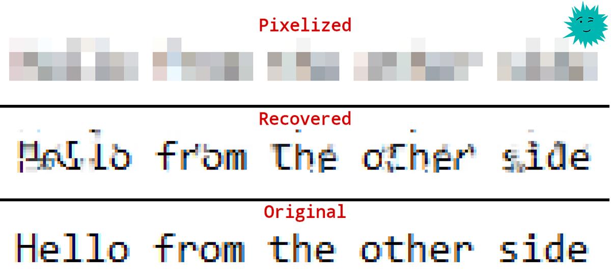 Разработана опенсорсная утилита Depix для восстановления паролей с размытых скриншотов
