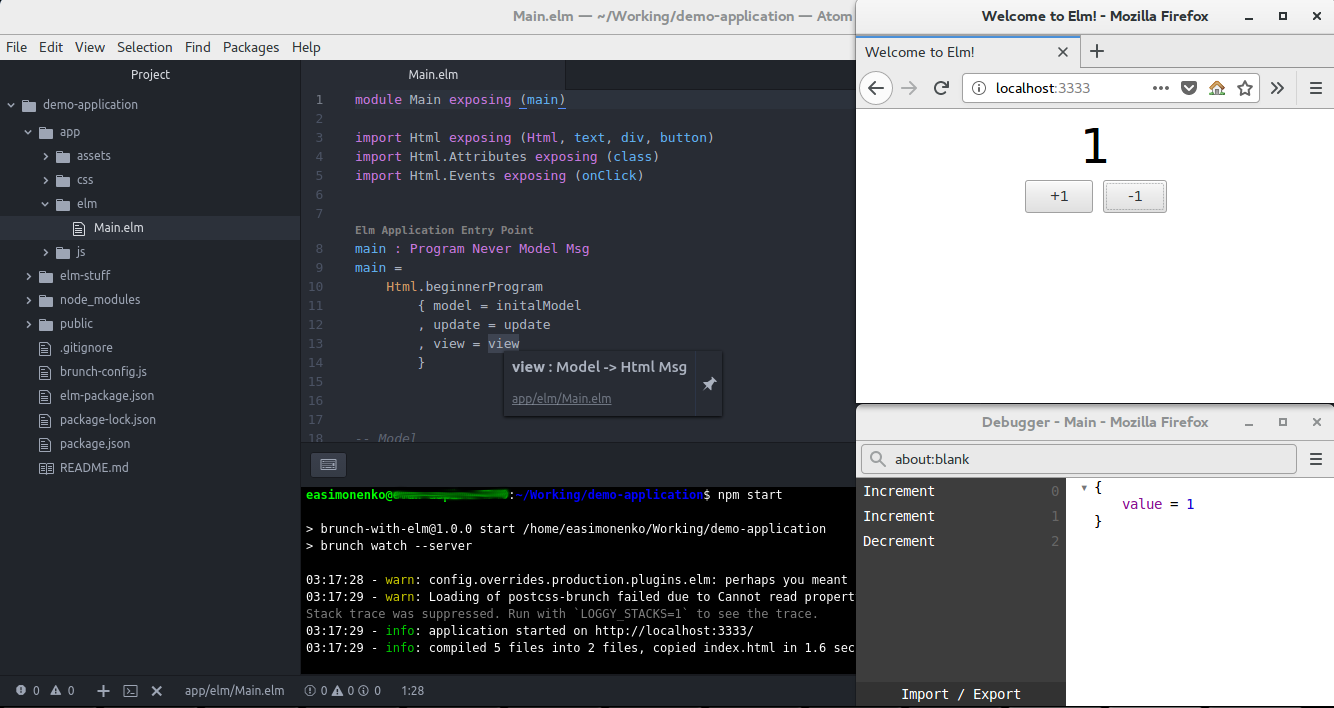 Инструменты разработчика на языке Elm