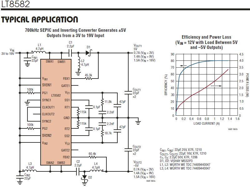 LT8582, SEPIC converter