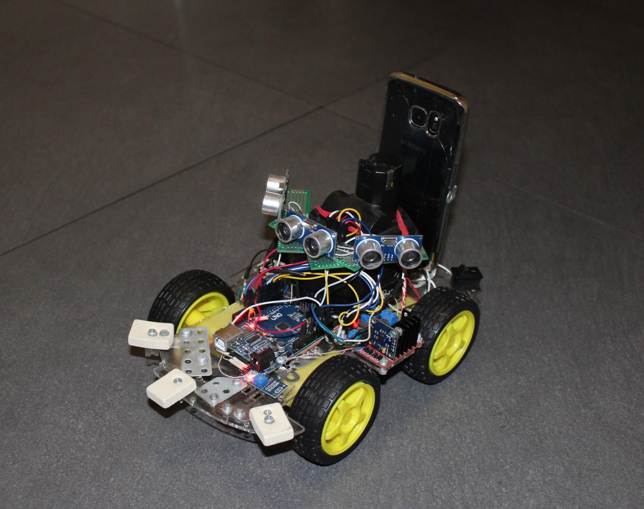 Эволюция или делаем базу для роботележки на ARDUINO платформе, а сенсоры и видео гоним на компьютер через смартфон