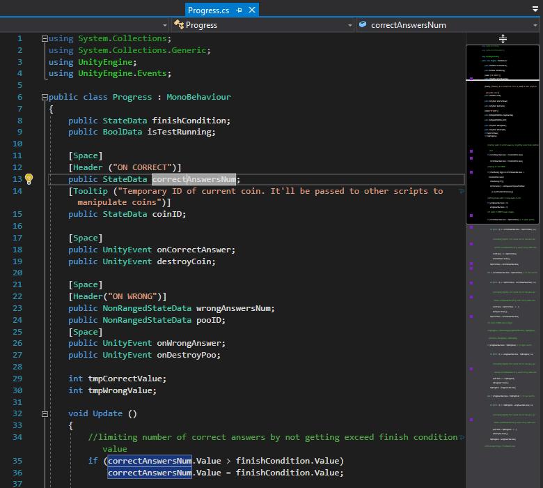 оформление кода и улучшенная миникарта в visual studio