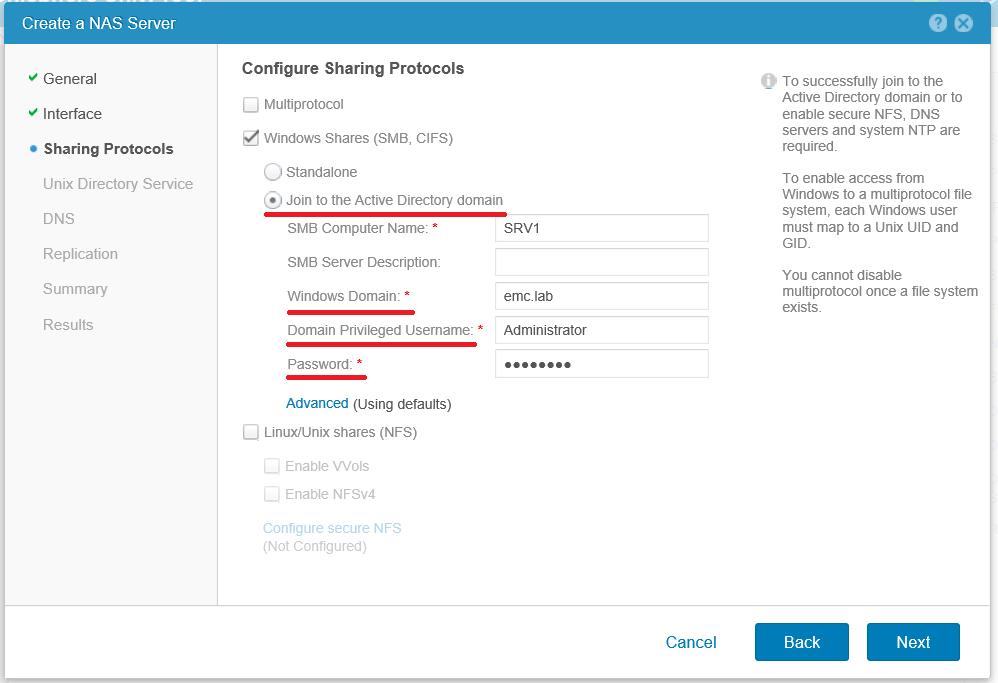Обзор файловой части Dell EMC Unity и примеры ее настройки