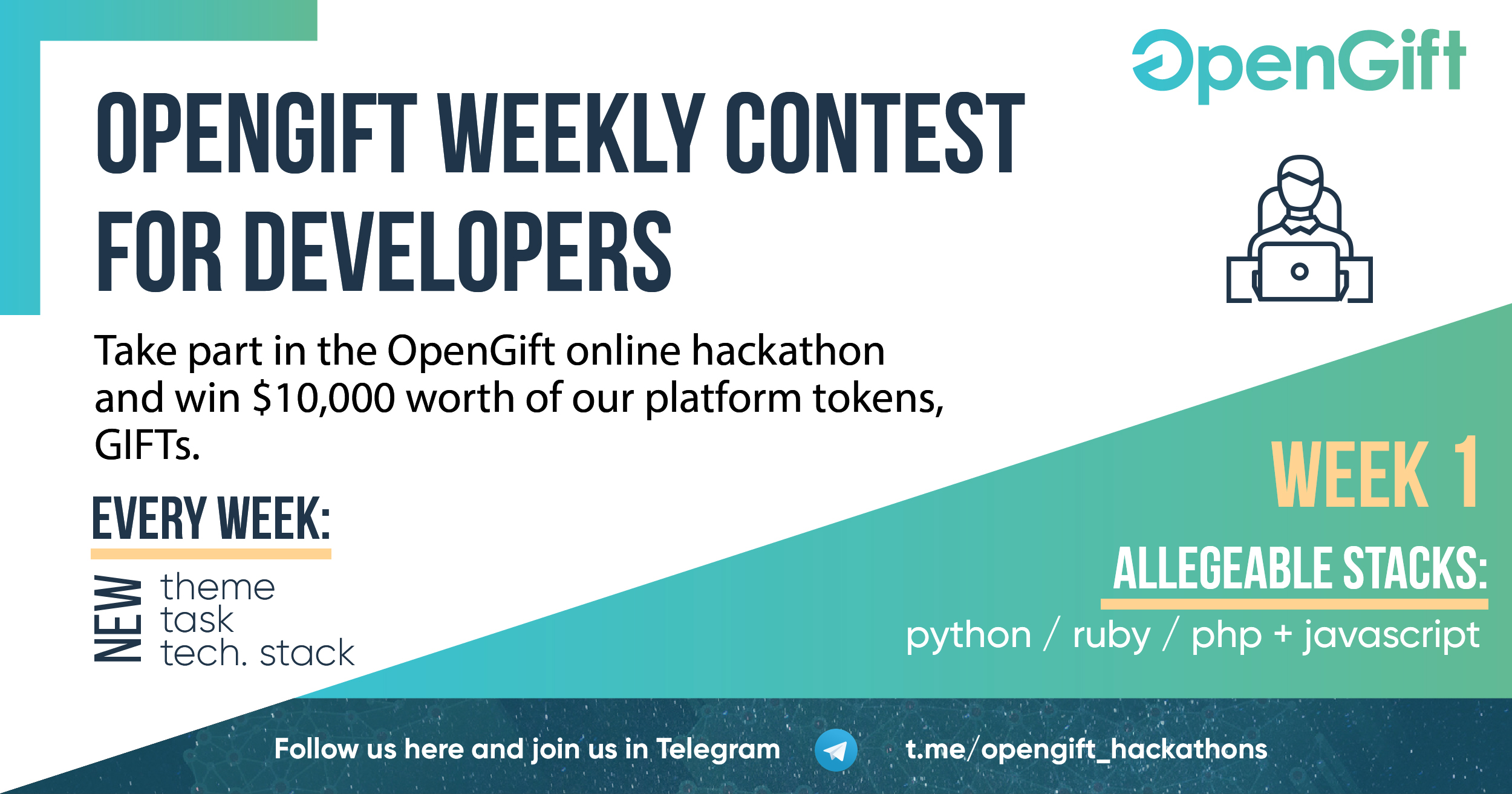 Weekly contest from OpenGift for developers