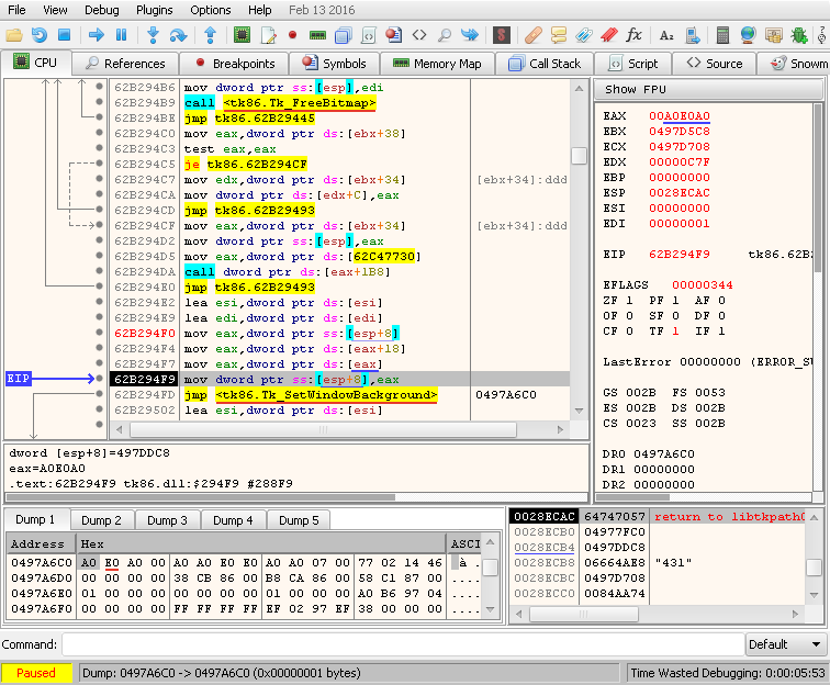 cpu – hardware breakpoint 0x0497A6C0