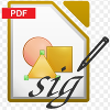 Electronic signature of GOST R ??? PDF documents in the LibreOffice office suite