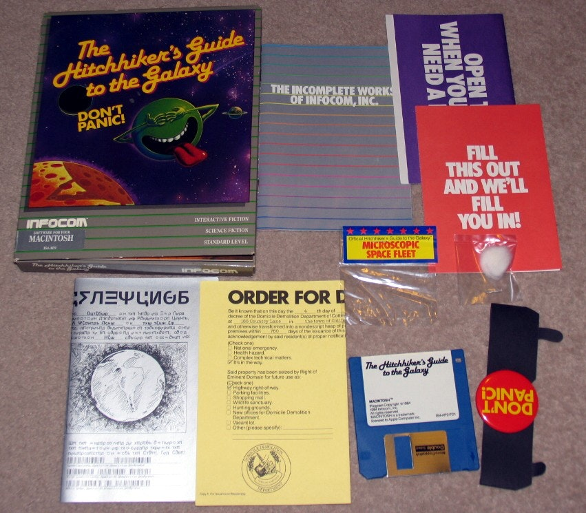 Перевод Автостопом по галактике  история невероятного текстового приключения 1984 года