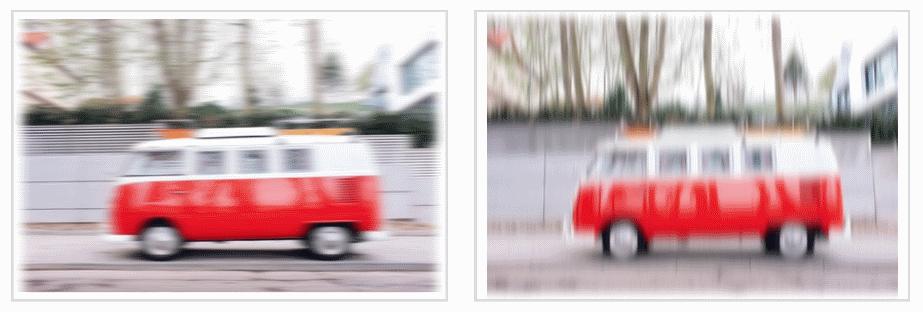 Эффект применения SVG-функции **blur()** раздельно по осям