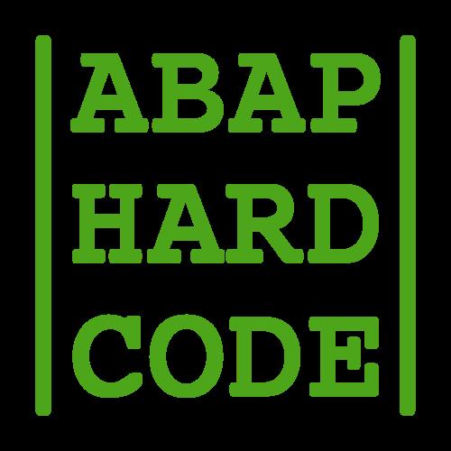 ABAP HARD CODE 18/11