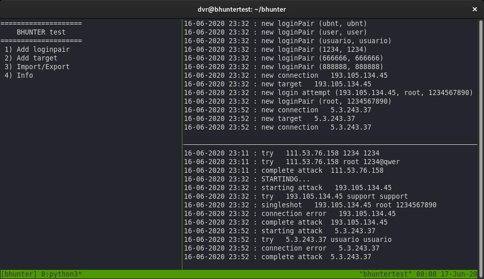 Bhunter  получаем доступ к узлам бот-сетей