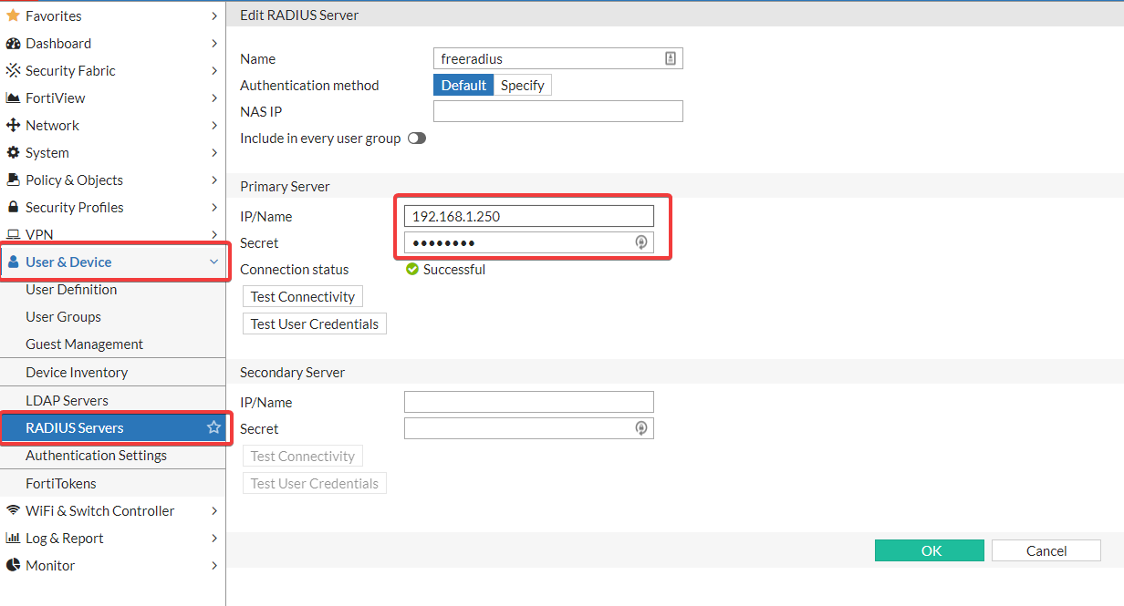 Freeradius  Google Autheticator  LDAP  Fortigate