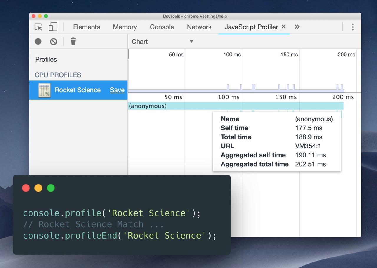 Вы знали, что с помощью console.profile можно запускать профилировку JavaScript?