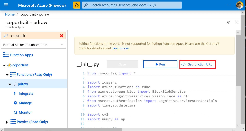 Azure Functions Portal