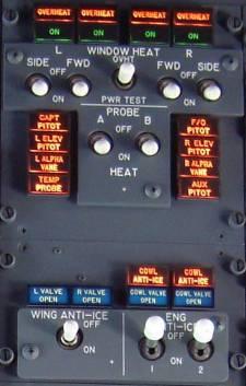 Ice and rain panel 737NG