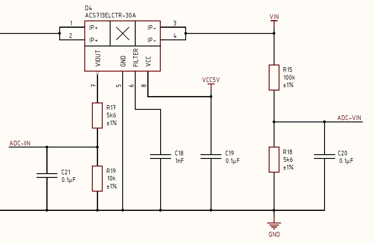 Схема датчика тока