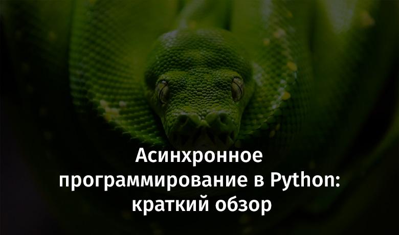 [Перевод] Асинхронное программирование в Python: краткий обзор
