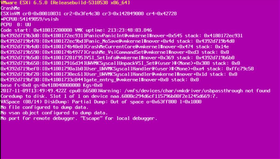 Как победить фиолетовый экран смерти VMware?