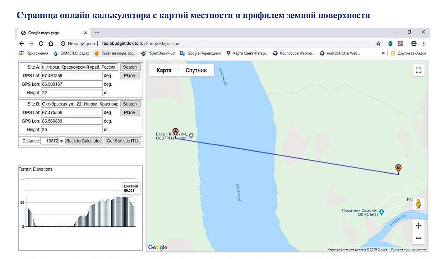 Карта установки радиомостов ДОК PPC-10G 2+0 40 Гбит/c (4х 10 Гбит/c) через Енисей
