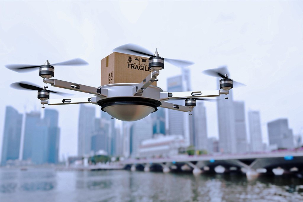 Как дроны следят за сохранностью грузов
