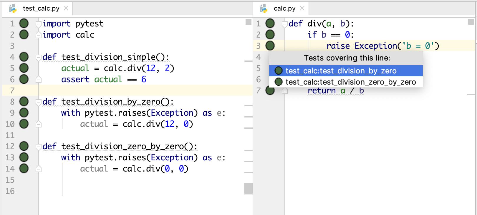 PyCrunch – Интеллектуальное выполнение тестов и визуальное покрытие кода в IDE