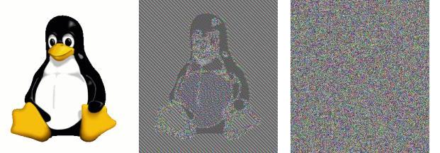 Изображение представляет собой псевдослучайную последовательность пикселей