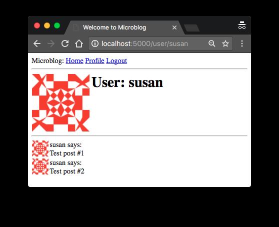 Мега-Учебник Flask, Часть 6: Страница профиля и аватары