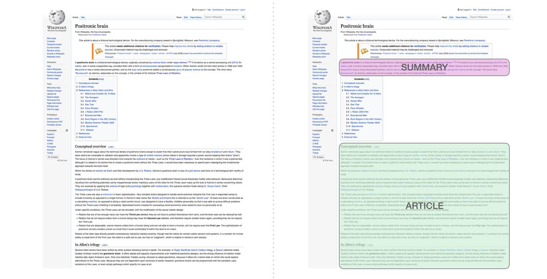 wikipedia-summarization